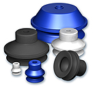 Suction Cups with 1.5 Bellows Ø 10 to 150 mm, VSAG series